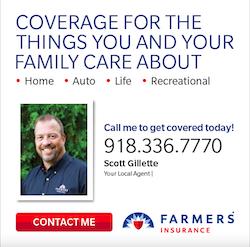 Farmers Scott Gilette 250